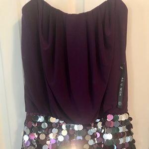 As U Wish, Purple Sequin Mini Dress